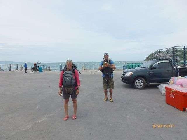 Ralle machte dieses Foto kurz nach der Findungsphase...der Pier ist leer..