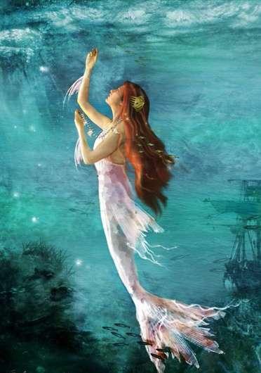 Fondo fantas a sirena - Colorazione sirena pagina sirena ...