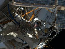 This image of Flight Engineer Roman<br /> Romanenko participating in Friday&#39;s<br /> spacewalk was posted on Twitter by<br /> Flight Engineer Tom Marshburn.<br /> Credit: NASA