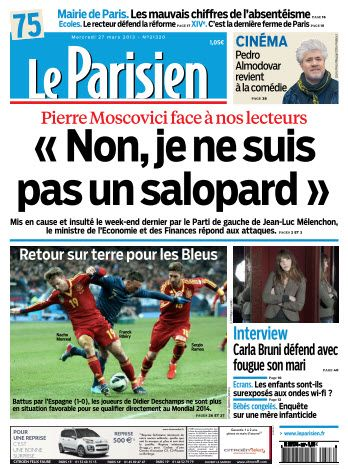 Le Parisien Mercredi 27 Mars 2013