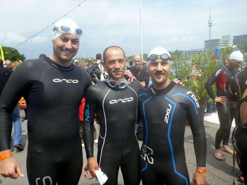 Boris, Davor i Žohar prije plivanja