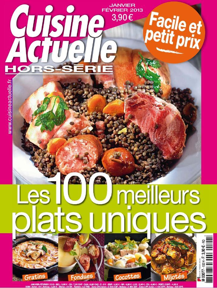 Cuisine Actuelle Hors-Série 102 Janvier Février 2013