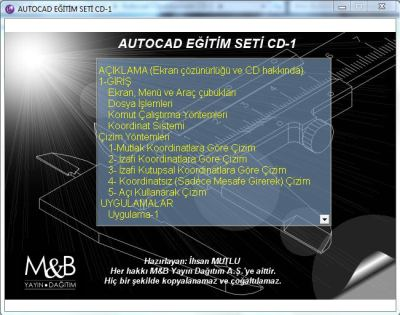 Autocad 2004 - 2005 Görsel Eğitim Türkçe